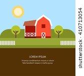 rural farm landscape. farm