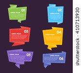 bitmap badges flat modern style.... | Shutterstock . vector #410713930