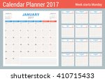 calendar planner for 2017 year. ... | Shutterstock .eps vector #410715433