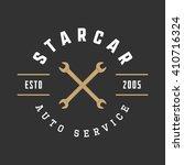 vintage mechanic label  emblem...   Shutterstock .eps vector #410716324