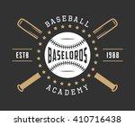 vintage baseball logo  emblem ... | Shutterstock .eps vector #410716438