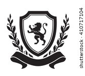 coat of arms   shield with lion ... | Shutterstock .eps vector #410717104