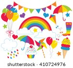 rainbow party | Shutterstock .eps vector #410724976