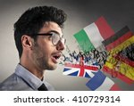 knowing different languages | Shutterstock . vector #410729314