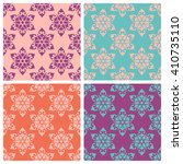 set of seamless patterns with... | Shutterstock .eps vector #410735110