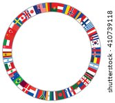 round frame made of world flags ... | Shutterstock .eps vector #410739118