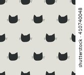 Stock vector seamless pattern cat art background design for fabric and decor 410740048