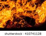 Fire. Burning Firewood. Heat....