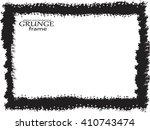 grunge frame. vector template | Shutterstock .eps vector #410743474