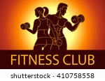 man and woman fitness template. ... | Shutterstock . vector #410758558