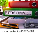 green ring binder with... | Shutterstock . vector #410764504