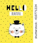 ''hello beautiful'' hand... | Shutterstock .eps vector #410771224