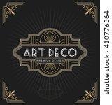 art deco frame and label design ... | Shutterstock .eps vector #410776564