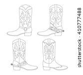 set of cowboy boots. vector... | Shutterstock .eps vector #410777488