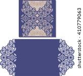 paper cut out card. laser cut... | Shutterstock .eps vector #410779063