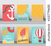 summer  holiday  vacation... | Shutterstock .eps vector #410779600