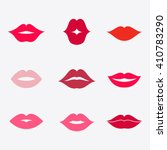 different women's lips vector... | Shutterstock .eps vector #410783290