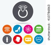 wifi  like counter and calendar ...   Shutterstock .eps vector #410786863