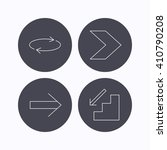 arrows icons. downstairs and...