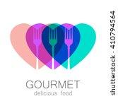 gourmet logo. delicious food.... | Shutterstock . vector #410794564