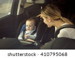 toned portrait of mother and... | Shutterstock . vector #410795068