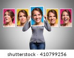 mood changes in a woman in her... | Shutterstock . vector #410799256
