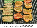 charcoal grill with vegetables. ...   Shutterstock . vector #410800063