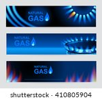 set of three banners natural... | Shutterstock .eps vector #410805904