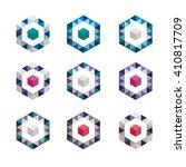ornamental mosaic logo template ... | Shutterstock .eps vector #410817709