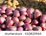 Onions For Sale At A Farmer's...