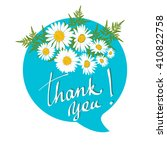 thank you speech bubbles with... | Shutterstock .eps vector #410822758