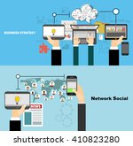 global social network abstract... | Shutterstock .eps vector #410823280