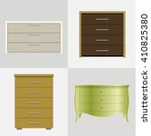 set of different drawers ... | Shutterstock .eps vector #410825380