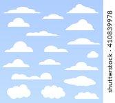 clouds set | Shutterstock .eps vector #410839978