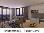 modern living room in small... | Shutterstock . vector #410840599