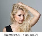 close up portrait of beautiful... | Shutterstock . vector #410843164