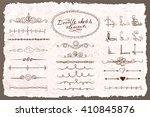 set of doodle sketch decorative ... | Shutterstock .eps vector #410845876