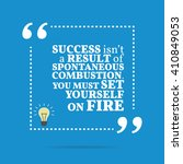inspirational motivational... | Shutterstock .eps vector #410849053