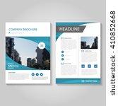 blue vector leaflet brochure... | Shutterstock .eps vector #410852668