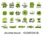 vector eco  organic  bio logos... | Shutterstock .eps vector #410853418