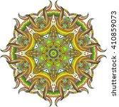 abstract color circular mandala. | Shutterstock .eps vector #410859073