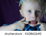portrait image of a little... | Shutterstock . vector #410862640