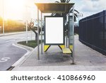 blank advertising light box on... | Shutterstock . vector #410866960