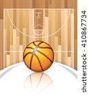 a realistic vector hardwood... | Shutterstock .eps vector #410867734