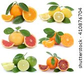 collection of oranges lemons... | Shutterstock . vector #410876704