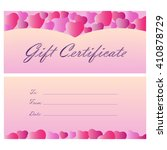 gift certificate coupon... | Shutterstock . vector #410878729