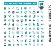 information technology icons  | Shutterstock .eps vector #410887570
