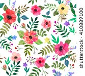 seamless floral  background.... | Shutterstock .eps vector #410889100