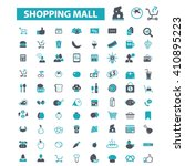 shopping mall icons  | Shutterstock .eps vector #410895223