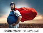 Stock photo funny portrait of hero 410898763
